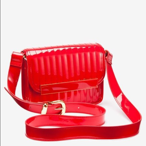 630f3e7fbd4 Ted Baker Bags   Red Quilted Patent Crossbody Bag   Poshmark